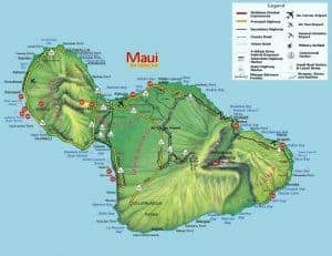 Maui Road and Highway Map for Safe Driving