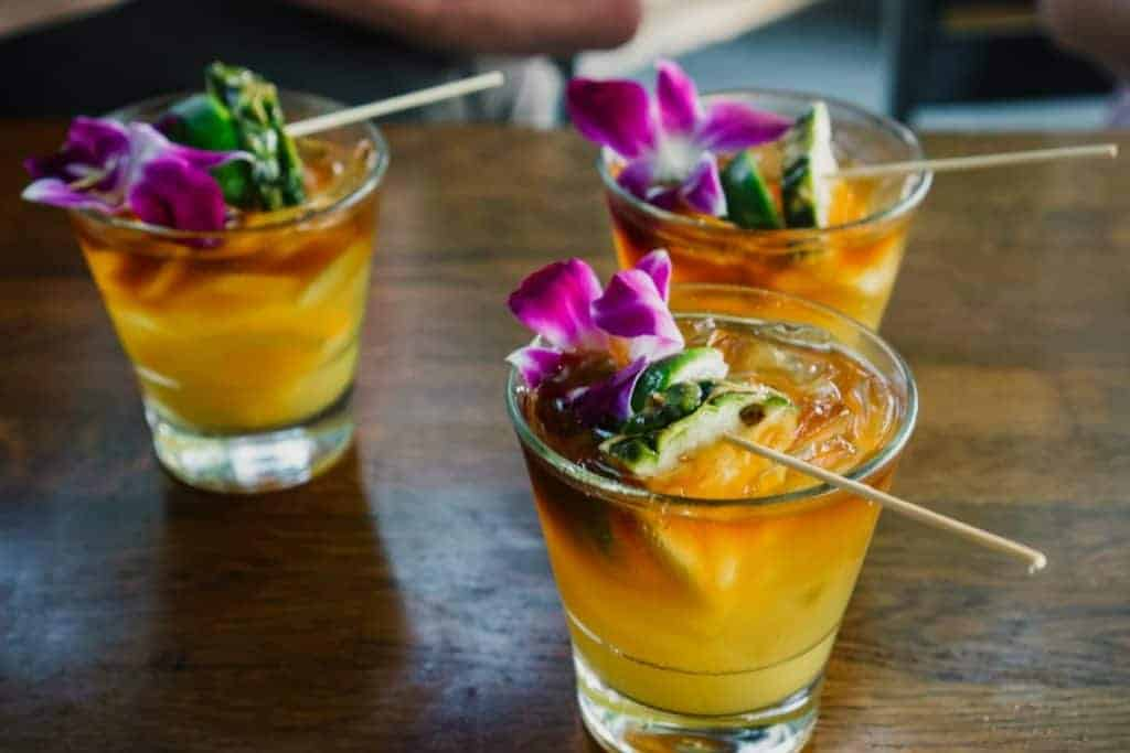 Aloha Mixed Plate Happy Hour Mai Tais