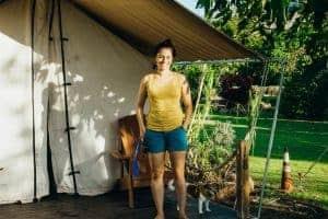 Erica at Camp Olowalu Tentalow