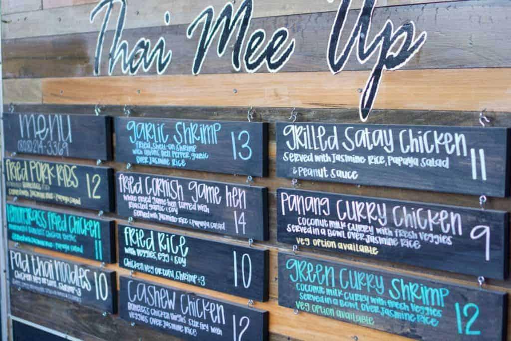Thai food truck menu Maui