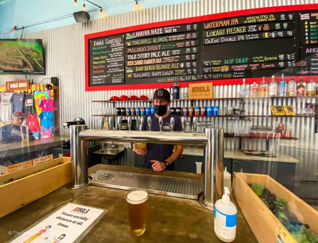 best happy hours lahaina kohola brewery