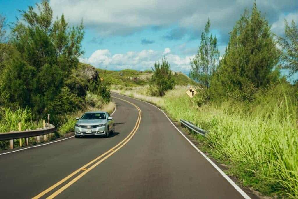 maui rental cars roads are good