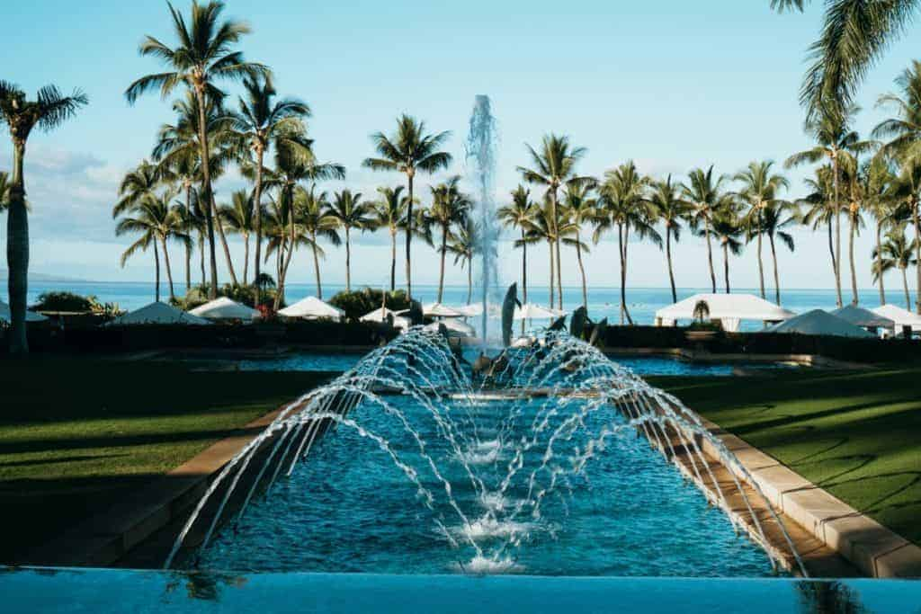 Grand Wailea Fountain is fun for kids