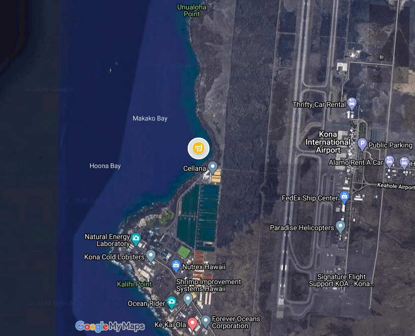 Manta Haven Map in Kona Hawaii