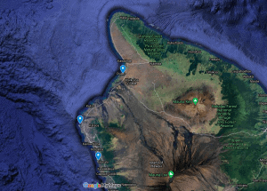 Manta Ray 3 night snorkeling locations on the Big Island