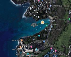 Manta Village Map in Kona Hawaii