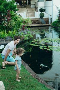 Maui Wailea Fairmont koi pond for kids