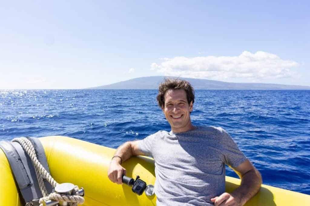 Maui Whale Watching Jordan on a Whale Raft