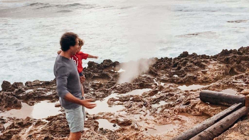 Turtle Bay Oahu Family Resort Blow Hole