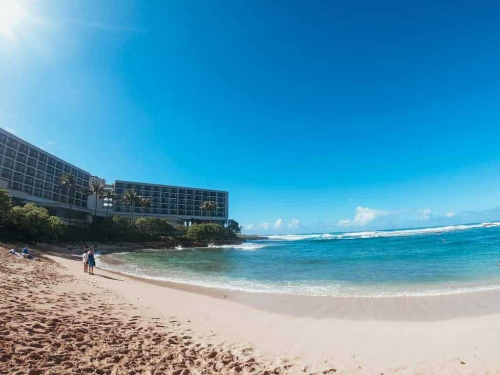 Turtle Bay Oahu beach family resort
