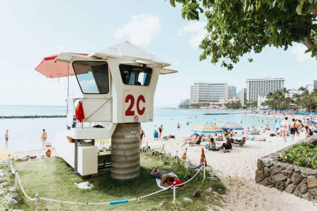 Waikiki Lifeguard tower