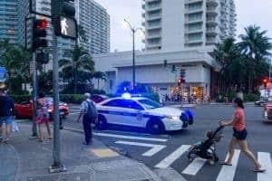 Waikiki Police Car