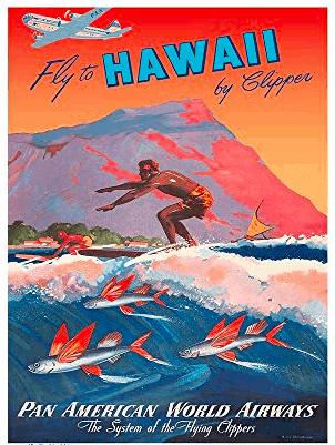 Waikiki Poster of Surfer Making Waikiki Famous
