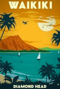 Waikiki Vintage Poster