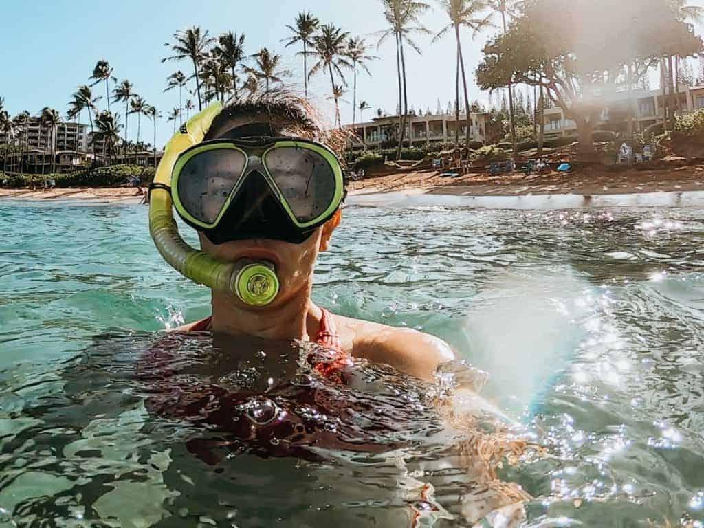 Kapalua Bay Best Snorkeling in Hawaii in August is Maui