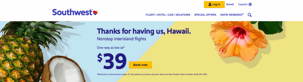 Cheap Hawaii Tickets Southwest Airline Deals