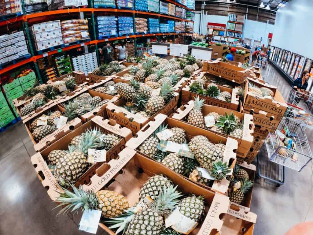 Hawaii Costco Grocery List Pineapples