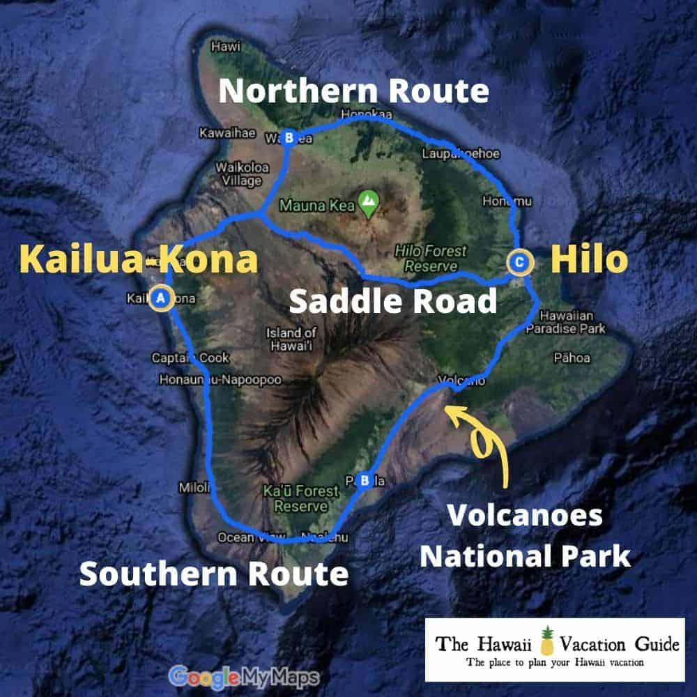 Kona vs Hilo To Stay Locations