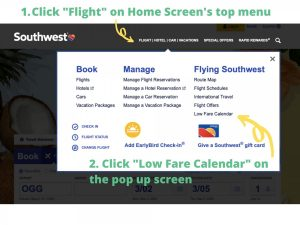 Low Cost Hawaii Flights Southwest Low Fare Calendar