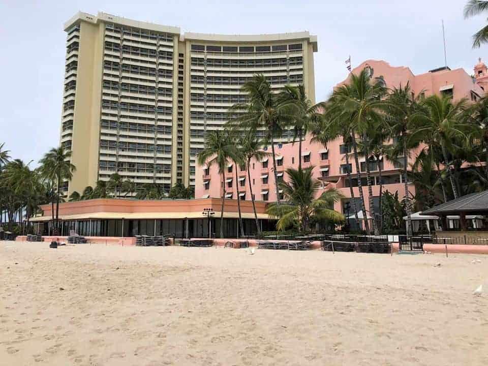 Royal Hawaiian Empty Beach COVID-19