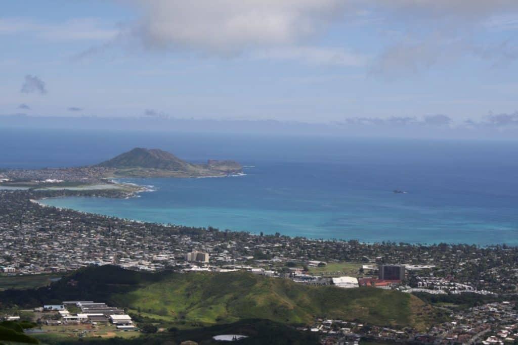 Vew from Olomana Hike Oahu