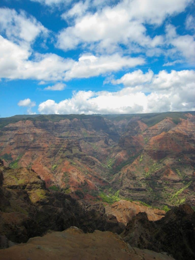 Wailea Canyon Kauai Itienrary