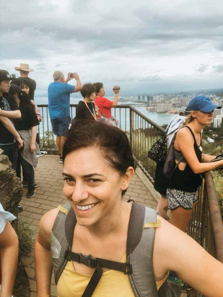 Diamond Head Hike crowds things to do oahu hawaii