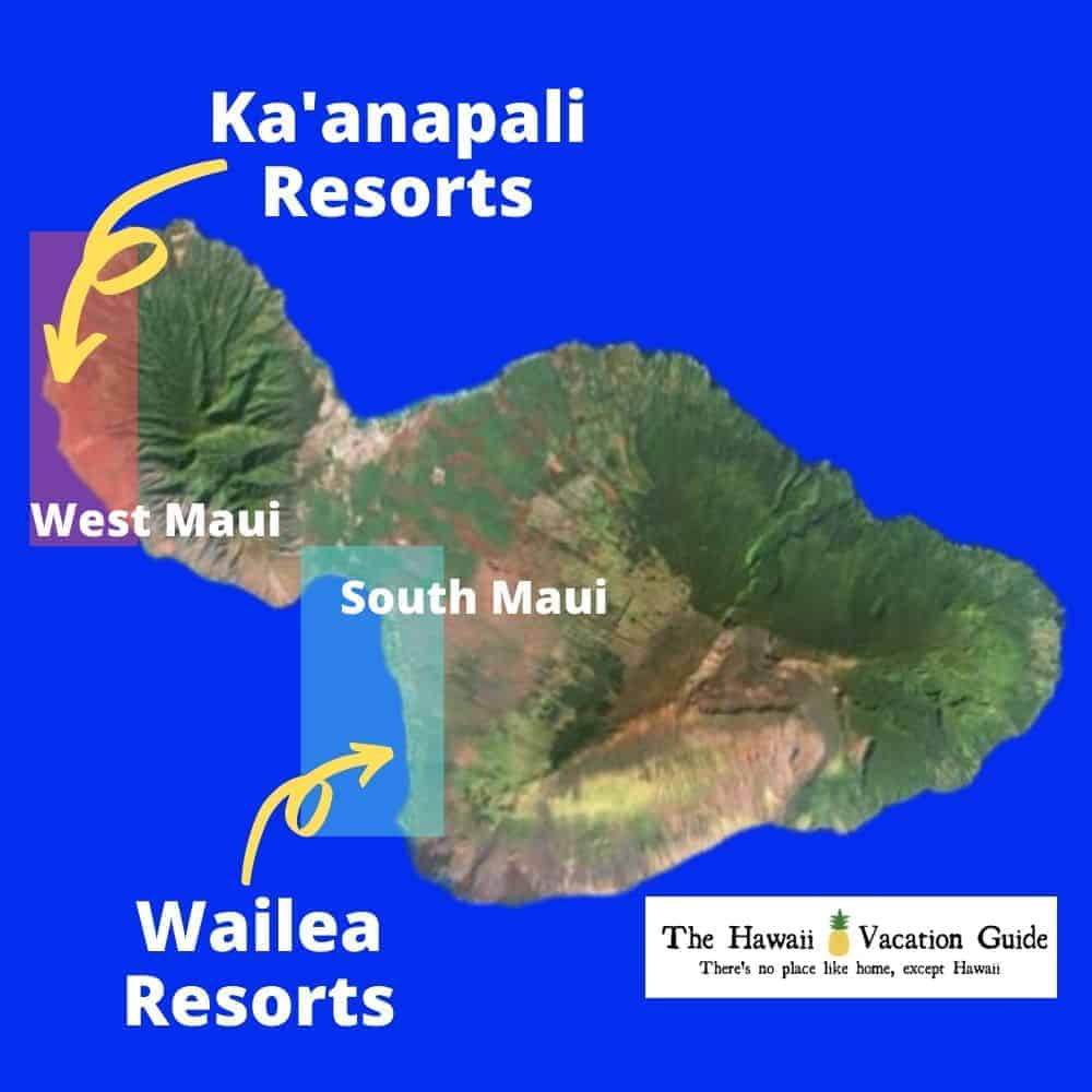 Maui Area Resorts Map