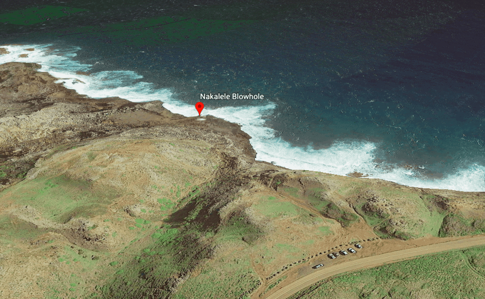 Nakalele Blowhole Google Earth Map