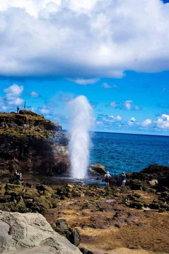 Nakalele blowhole maui geyser