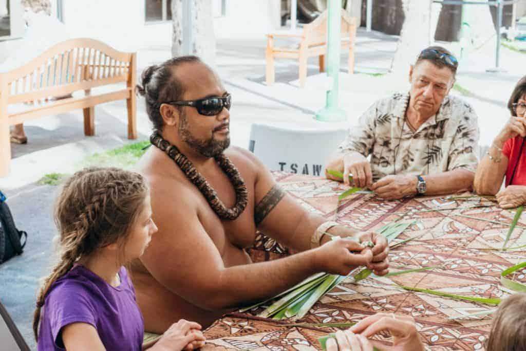 Oahu Go Card Hawaii Basket Weaving