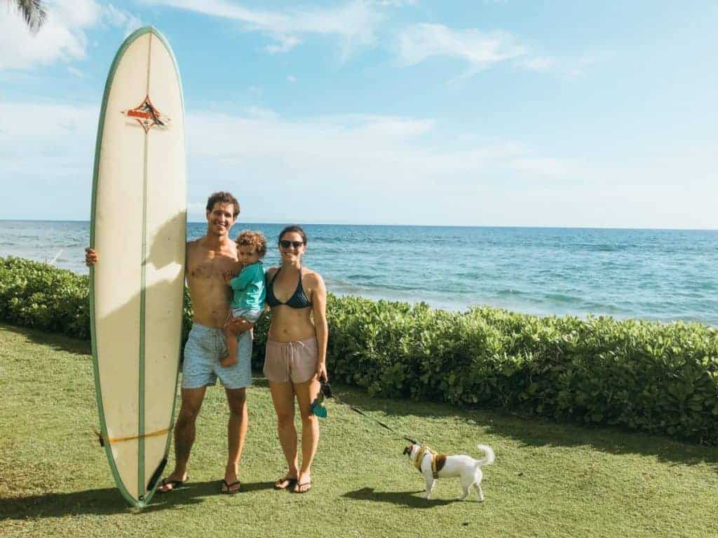 surfing family in Hawaii things to do