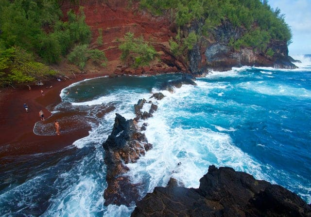 Honeymoon Itinerary Road to Hana Red Sand Beach