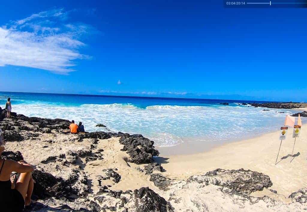 Manini'owalu Beach at Kua Bay Best Kona Beaches