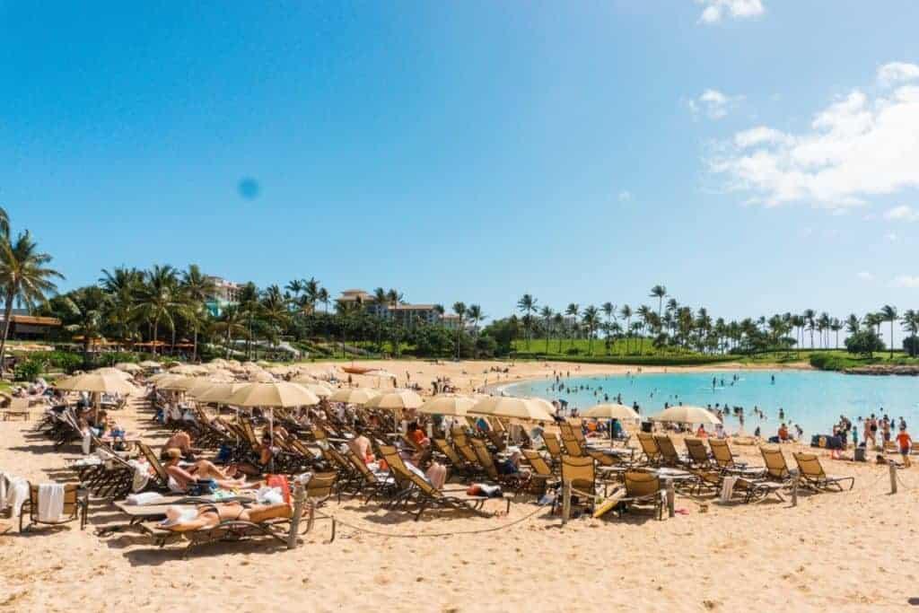 Oahu Hawaii Ko Olina Crowded Beach Worst time to visit