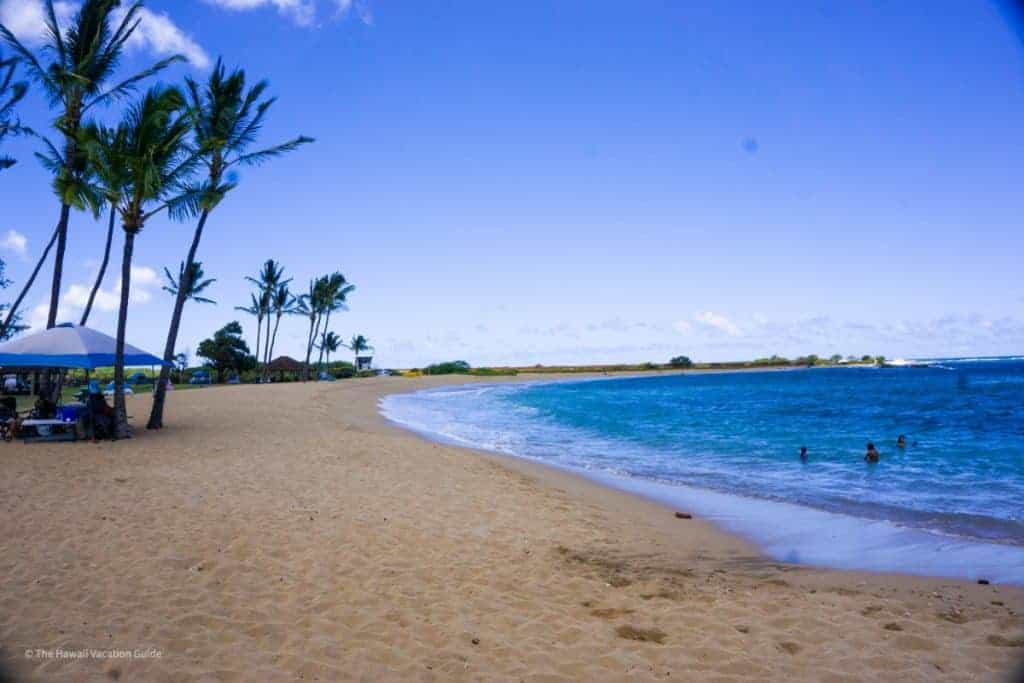 salt pond beach on west side Kauai with families