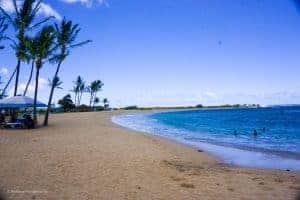 salt pond beach on west side Kauai with families