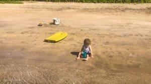 Baby Beach Lahaina Henry Playing on Beach