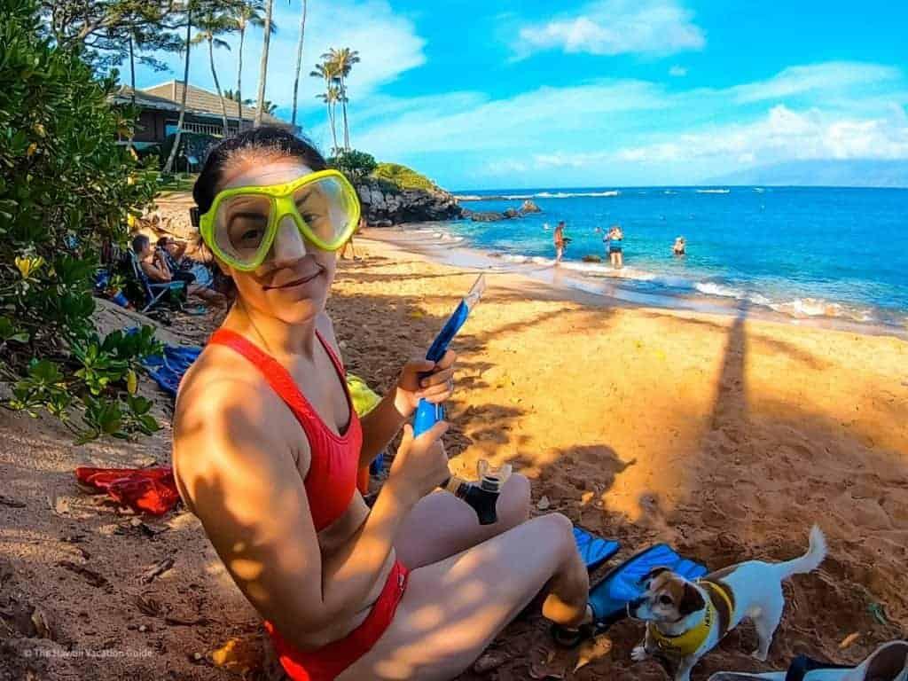 Best kid beach maui Kapalua Bay