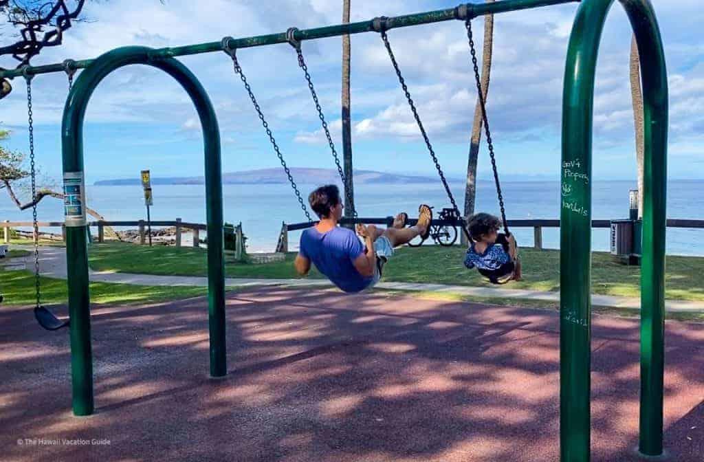 Kam Beach Kihei Maui Kid Friendly Swings Beach