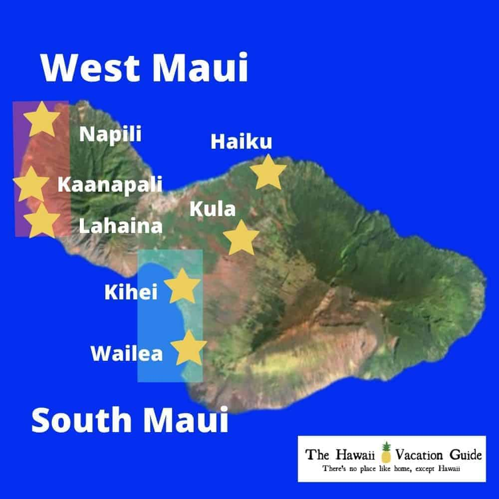Maui Vacation Rentals With Private Pools Map