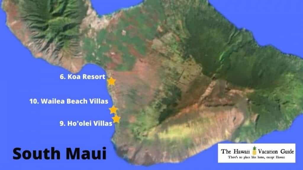 South Maui Vacation Rentals for Large Groups Map