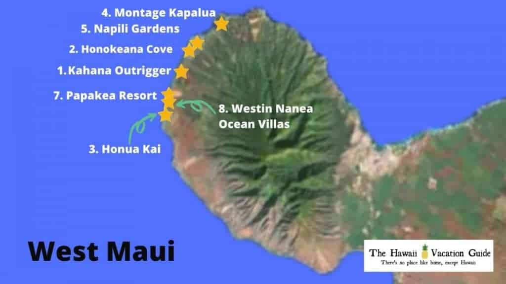 West Maui vacation rentals for Large groups Map