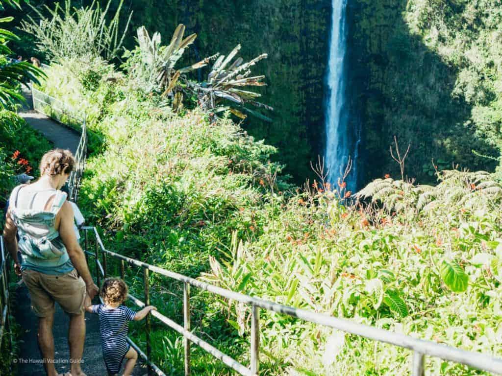 Island of Hawaii travel Guide Facts Akaka Falls in Hilo