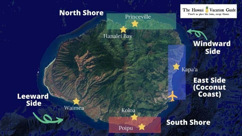 Kauai Travel Guide Map