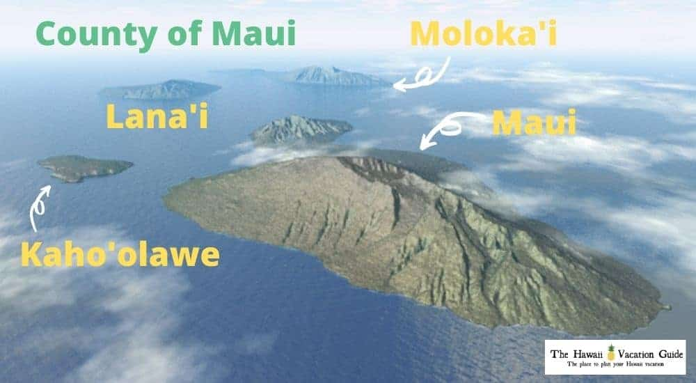 Maui Travel Guide Maui and Islands Map