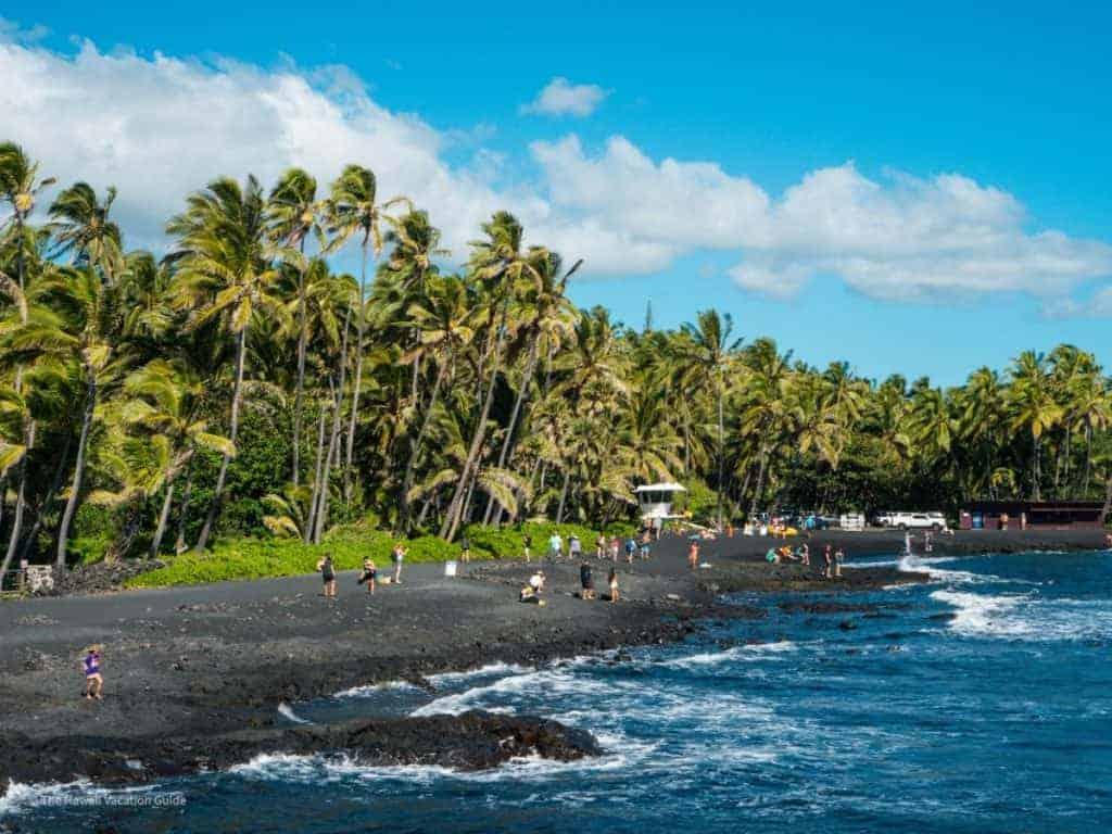 big island travel guide Punalu'u Beach black sand beach
