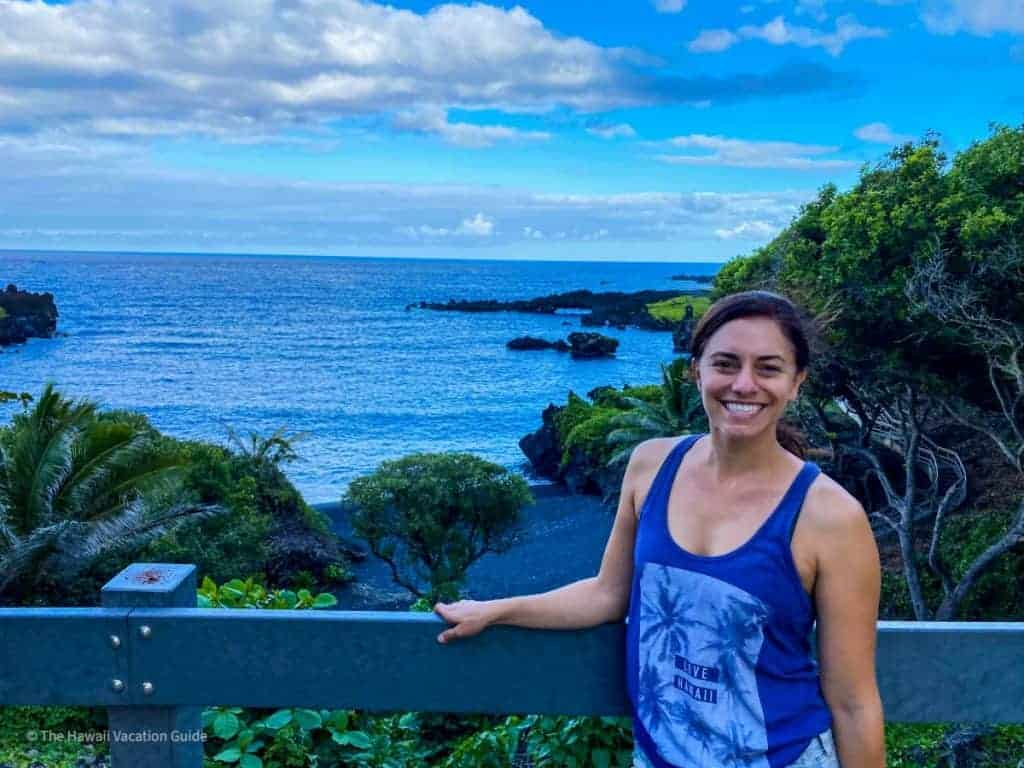hana where to stay one night Aaianapanapa black sand beach