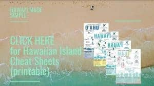 Hawaii Vacation Guide Cheat Sheets Info
