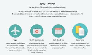 safe travels Hawaii dashboard
